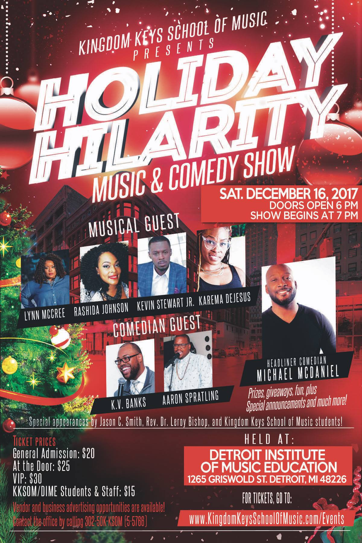 Holiday Hilarity Poster Flyer